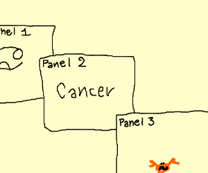 Panel evolves into panel with crab