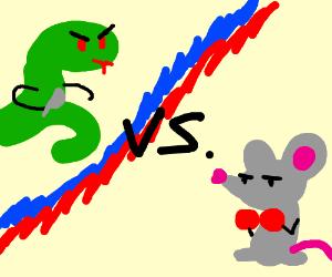 Murderous snake vs. mouse boxer