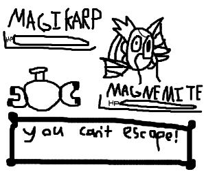 Magikarp does not let you escape.