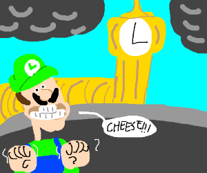 Luigi excited about Britain.
