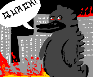 Duckzilla says quack