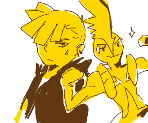 Gladion and a beefed up Tapu Koko