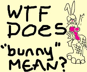 Kawaii bunny wearing a pink suit