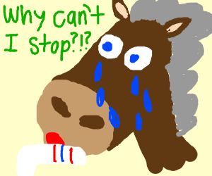 Horse Tearfully Eats a Tube Sock