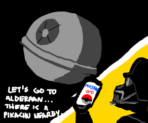 "Darth Vader discovers ""Pokemon"""