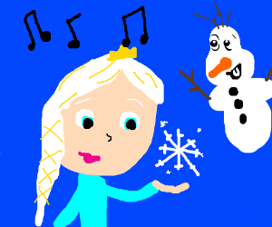 Frozen cartoon