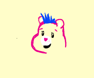 care-bear with cool hair