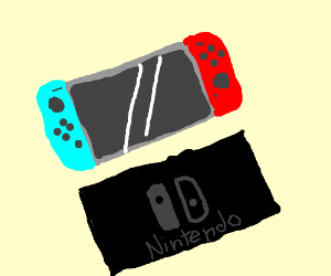 Niintendo Switch (neon red and neon Blue)