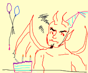 Satan hates his birthday party