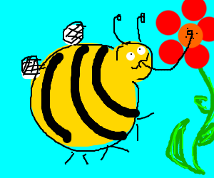 Overweight bumblebee