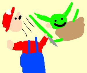 Mario fights Yoda
