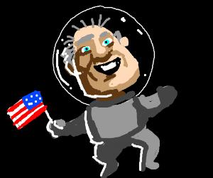 Bill clinton balding in space