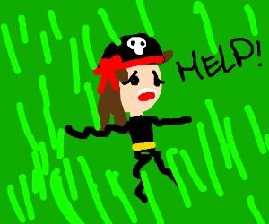 Pirate in green goo storm! Help!