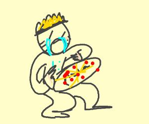 Naruto loves pizza