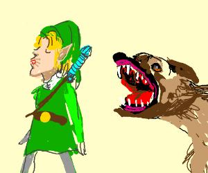 Link unimpressed with dog