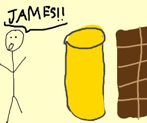 Man yells 'James!' at lemonade and chocolate