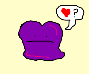 Heart-shaped Ditto doesn't know how to love