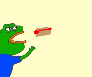 Pepe Wants Hot Dogs