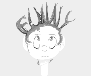 A guy with funny hair