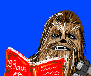 Chewbacca reading a bedtime story.