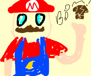 Mario Destroys Brown Mushroom Drawing By Artist Will Drawception