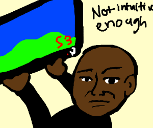 Man angrily throwing his TV