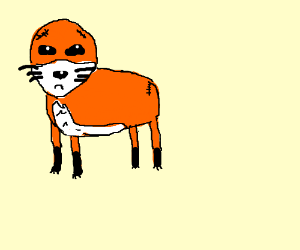 A Fox Without Ears And Tail Drawing By Robboss Drawception