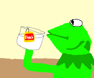 Sidorovich eating chicken. - DrawceptionKermit Drinking Bleach