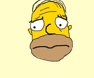 a worried homer
