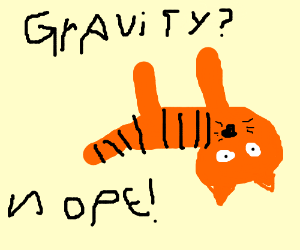 A Tiger Defying The Laws Of Gravity Drawception