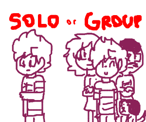 Choose between solo or group.