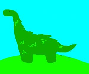 hairy green dinosaur