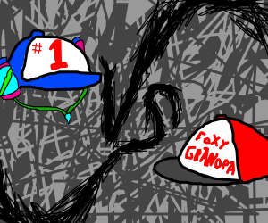 #1 soda drinking hat vs foxy grandpa hat