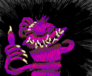 purple monster dude approves