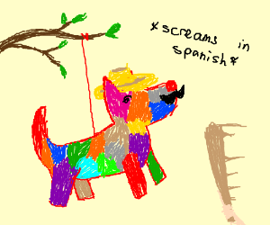piñata with sombrero