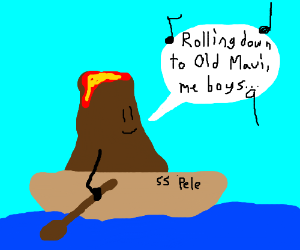 A wandering Volcano sings a song