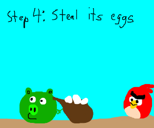 Step 3: You cant relax due to a loud bird