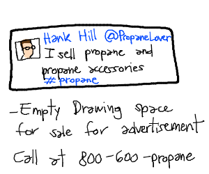 Hank Hill's twitter page