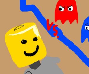 lego man vs ghosts