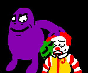 grimace farts in ronalds face