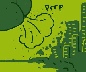 Fart destroys a city block