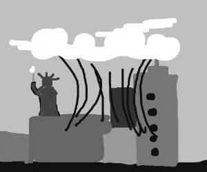OMG NOOOOO! a fart is destroying NYC