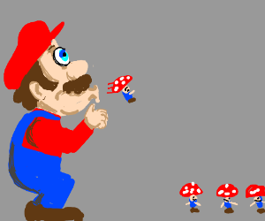 mario spitting out tiny toads