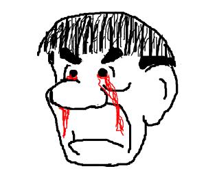 Moe cries blood.