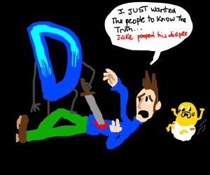 Doomguy kills the Jake derailer