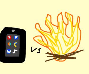 Fire VS Fire. FIGHT!