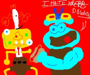 Squidwad hates Spongebeb choice in Foods.
