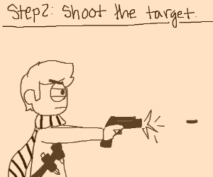Step 1: acquire a target