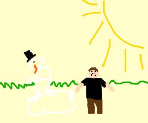 Sun Melting Snowman