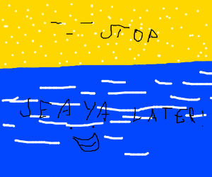 a blue thing and all this stuff is blue - Drawception